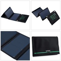 Wholesale Arrival VINSIC VSSP103 W Waterproof Power Bank Portable Solar Panel Charger Dual Port Outdoor Foldable Battery