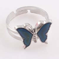 arrival change jewelry - 2016 New Arrival Women Mood Rings Alloy Butterfly Cat Change Color Ring for Women Hot Sale Female Jewelry R119