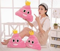 Cheap New 35cm emoji plush toys Pillow Cushion cartoon 14 inches Poop Stuffed Animals Pillows dolls Children's gift HHA900