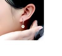Wholesale Temperament female glass pearl earrings Tremella buckle car Flower Earrings Ear Ring