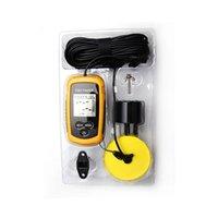 Wholesale Portable Fish Finder Fishing Echo Sounder m Depth Sonar Sounder Alarm Transducer Fishfinder Fishing Bait Tool