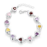 Wholesale H368 girls hearts design friend ship bracelet fashion Jewels gift birthday Hand Jewelry to send his girlfriend