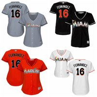 arrival miami - 2016 HOT sale New Arrival women Miami Marlins Jose Fernandez Jersey ladies Embroidery logo Authentic Baseball Jerseys SIZE S XL