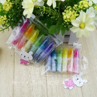 Wholesale Hobby stationery lovely cartoon fluorescent straight liquid Mini Color Marker Pen set