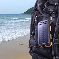 android solar panel - Powerbank mAh Solar Power Bank Solar Panel Charger Two Led Light Power Banks For Iphone Android Samsung Smartphone