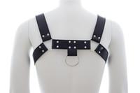 adult lingerie - Adults Games Faux Leather Harness Men Black Fetish Sex Bondage Restraint Male Slave Strap Belt Sexy Lingerie Sex Products