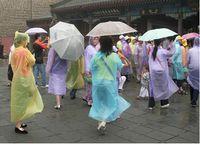 Wholesale Disposable PE Raincoats Poncho Rainwear Travel Rain Coat Rain Wear Gifts Mixed Colors Via Free DHL