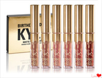 mini lip gloss - 2016 New arrival Kylie Cosmetics Matte Lipstick lip gloss Mini Kit Lip birthday limited edition gold