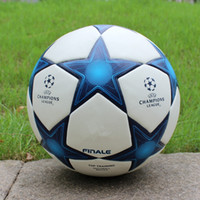 Wholesale Match Football Soccerball Soccer Euro Champions League Antiskid Competition Training NO Soft Skin Particles Reds Blue Hot In China