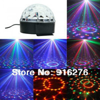 Wholesale RGB remote control High Power LED W Stage Lighting Crystal Ball Lamp Bulb Light Auto Disco Model C With MP3 Player function