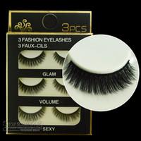 Wholesale D31 soft stems handmade simulation mink eyelashes mm natural multilayer thick end of multi filament hair false eyelashes