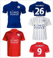 Wholesale 2016 New Leicester City soccer jersey VARDY home bule MAHREZ DRINKWATER OKAZAKI ULLOA top quality Leicester City football shirt jersey