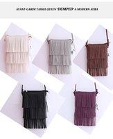 Wholesale Vintage Women Shoulder bags PU Leather Tassel Handbags Zipper Crossbody Bag Lady Fashion Messenger Bag Flap For Women