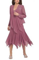Wholesale 2016 Long Sleeves Mother of the Bride Dresses Plus Size Formal Long Chiffon Mother Dresses With Applique Jacket Custom Made Cheap