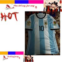 argentina rugby jersey - 2016 Chile VS Argentina MESSI player version jersey customize Flocking patches