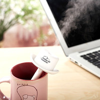 Wholesale USB Mini Portable Cowboy Cap Humidifier DC V Office Air Diffuser Mist Maker with Absorbent Filter Sticks