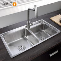 Wholesale Amigo SUS304 small R angle sink With a diagonal design generous decency flexible wire processing surface smooth