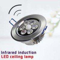 bathroom surface materials - LED motion sensor ceiling light uses bathroom hallway Aluminum material ceiling light fixture lamp