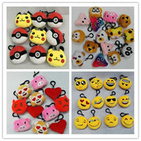 animal love games - Poke Go Game Poke Plush toys Pikachu Elf Ball Keychain Hedgehog Pig Love The Reds Emjoy Stuffed Animals Pendant