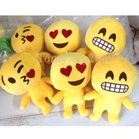 Wholesale Plush Emoji Pillow toys emoji Stuffed dolls Plush Pillow Emoji Smiley Pillows Cartoon Cushion QQ Expression Stuffed Plush doll