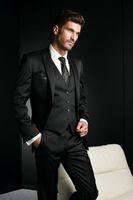 Wholesale men suit Groom Tuxedos Custom Made Tuxedo Wedding Tuxedos Black Suits For Men Two Piece Suit One Button