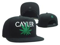 Chaquetas negras del casquillo de la marca de fábrica de la manera del sombrero de béisbol del casquillo negro / verde de la nueva hoja para las mujeres de los hombres deporte hip hop hueso gorras para hombre gorras de calidad superior de calidad superior