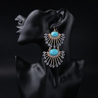 Wholesale New Pure Quality Elegant Crystal Blue Fashion Hot Sale Alloy Cute Summer Fresh Geometric Earring