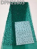 beaded fabric for dresses - High quality beautiful african tulle lace fabric With beaded Hot sale nigerian tulle mesh Lace Fabric For dress yd DPN21804