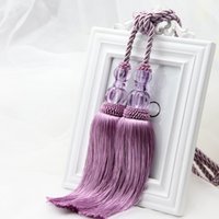 Wholesale New Tassel Curtain Tieback Cotton Rope House Room Window Decor Tieback belt ball high quality CP010