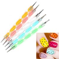 Wholesale 1Set Way Marbleizing Dotting Manicure Tools Painting Pen DIY Nail Art Paint Nail Art Dot Dotting Tool Nail Care