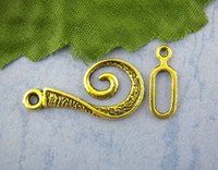 Wholesale Retail Sets Gold Tone Vortical Charms Toggle Clasps mm