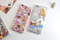alice soft - 3D Alice Angry Birds Cartoon Girl Soft TPU Case Non slip Tiger Dot Clear Shockproof Silicone GEL For Iphone Plus S I6 skin Luxury