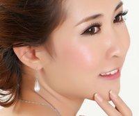 Precio de Cuarzo agua-Los pendientes de ópalo de forma de gota de agua 2 colores Opal Rose Quartz Earrings Una buena elección de regalo para amante y friend1