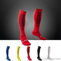 Wholesale Men Soccer Socks Top Thai Quality Football Game Profession Clubs Thicken Towel Socks Soccer Long Stocking For World Cup