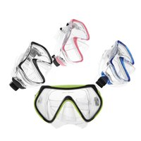 Wholesale New Colors Scuba Diving Mask Goggles Swimming Diving Snorkeling Equipment mm Toughened Tempered Glass Full Dry Snorkel Set