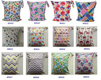 baby cloth diaper patterns - Travel Baby Wet and Dry Cloth Diaper Organizer Bag Tote with Soft Snap Handle Wave Animal Patterns