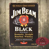 Wholesale JB BOURBON WHISKEY Tavern Wall Decor Bar club Sign Tin Plaque PICTURE pub A