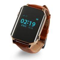 Wholesale Smart GPS Watch phone Locator Tracker and Heart Rate Monitor for Elder GPS Beidou WIFI LBS Multi mode locating Lifetime GPS Platform