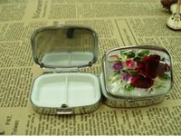 Wholesale per cm cm cm Metal Pill boxes Case DIY Medicine Organizer Container Medicine Case Silver Color