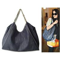 american shopper - 2016 Jean Denim Ladies Hand Bag Women Big Hobo Handbag Shopper Tote Large Messenger Cross body Shoulder Bag