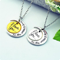 alloy steel chain manufacturers - In business WOMENS JEWELRY for Valentine s day hot sun and moon I Love You Jewelry Pendant Necklace manufacturers spot for lovers