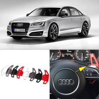 auto shifters - 2pcs Brand New High Quality Alloy Add On Steering Wheel DSG Paddle Shifters Extension For Audi S8 Auto parts