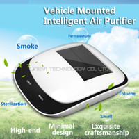 air filter mount - Vehicle Mounted Smart Air Purifier Wireless Start up Sterilization Formaldehyde PM2 Filter Solar Energy Million Oxygen Ions Per Second