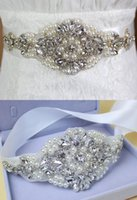 Wholesale 2016 New Luxury Bridal Sashes Crystal Beads Pearls Real Image In Stock Bridal Belts For Wedding Evening Party