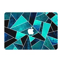 Wholesale Wild Ocean Stone With Lines Grain Top Vinyl Front Cover Laptop Sticker For Apple Macbook Air Pro Retina inch Laptop Decal Skin