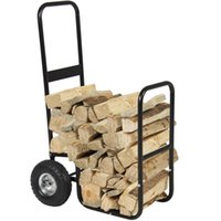 Wholesale Firewood Cart Log Carrier Fireplace Wood Mover Hauler Rack Caddy Rolling Dolly