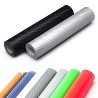 Wholesale 3D Carbon Fiber Vinyl Wrap Film Car styling cm x30cm Motorcycle Car Vehicle Stickers And Decals Sheet Roll Car Accessories