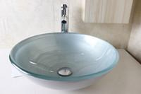 Wholesale Tempered glass hand wash basins wash basin hand painted art basin factory direct N