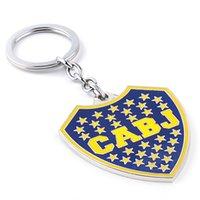argentina jewelry - Metal Argentina Club Atlético Boca Juniors CABJ logo keychain football fans key rings keyring bag hangs women men fashion jewelry
