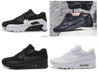 achat en gros de air max noir-2016 Fashion max 90 II Hommes Chaussures de course Blanc Noir Haute Qualité Maxes Sports de plein air Chaussures Athletic Sneakers Eur 40-45